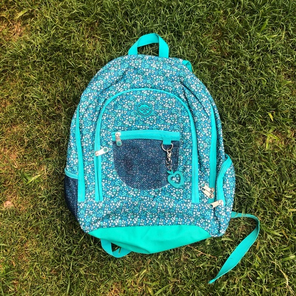 turquoise girl's backpack